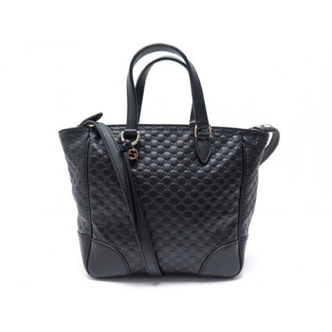 Gucci Womens Black Microguccissima Small Crossbody Bag Tote Handbag 449241 at_Queen_Bee_of_Beverly_Hills