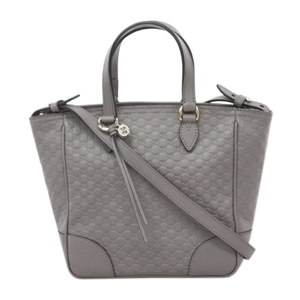 Gucci Womens Gray Microguccissima Small Crossbody Bag Handbag 449241 at_Queen_Bee_of_Beverly_Hills