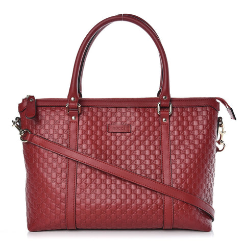 Gucci Womens Microguccissima Rosso Red Leather Crossbody Handbag 449656 at_Queen_Bee_of_Beverly_Hills