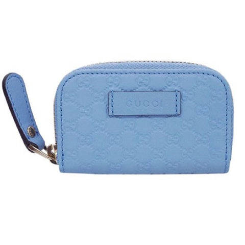 Gucci Womens Mineral Blue Microguccissima Soft Leather Money Case 449896 at_Queen_Bee_of_Beverly_Hills