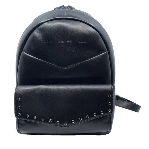 Jimmy Choo Cassie Black Leather Round Studs Backpack UPS/184 at_Queen_Bee_of_Beverly_Hills