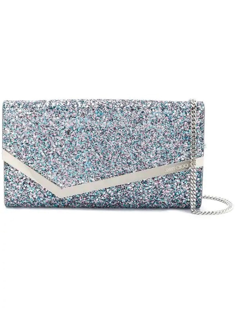 Jimmy Choo Emmie Bubblegum Mix Glitter Handbag CGF/0C6944 at_Queen_Bee_of_Beverly_Hills