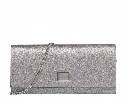 Jimmy Choo Lilia Shaded Fine Multi Color Glitter Fabric Clutch Handbag DIR/191 at_Queen_Bee_of_Beverly_Hills