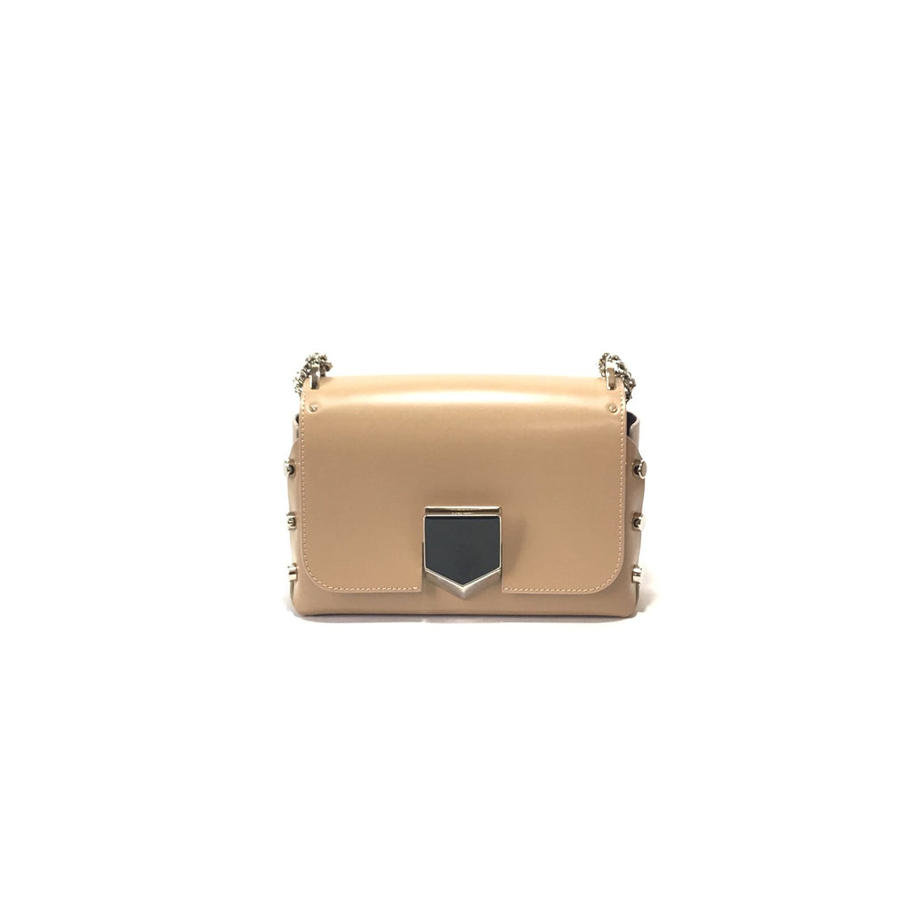 Jimmy Choo Women's Nude Chrome Lockett City Cross Body Bag AA0202 at_Queen_Bee_of_Beverly_Hills