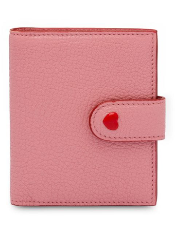Miu Miu Madras Forever Love Rosa Pink Small Leather Snap Card Case Wallet 5MV016 at_Queen_Bee_of_Beverly_Hills