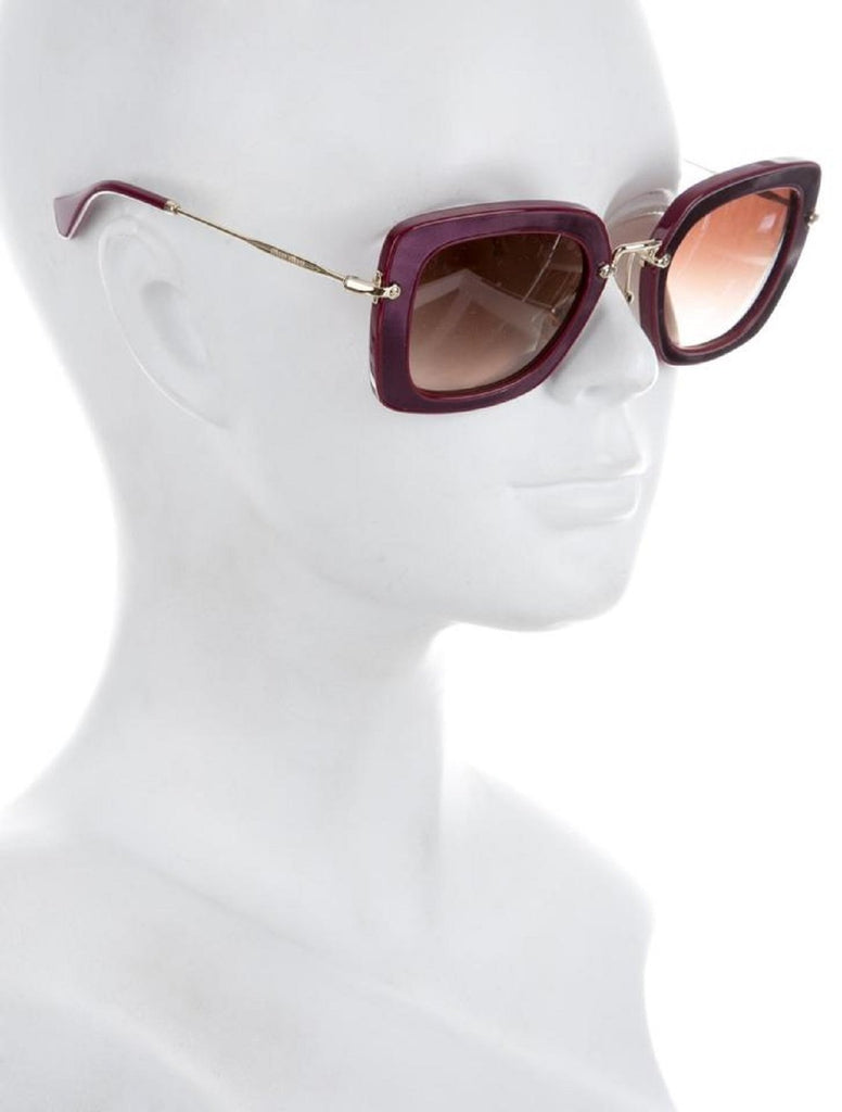 Miu Miu Prada Classic Women's Purple Luxury Sunglasses SMU07O at_Queen_Bee_of_Beverly_Hills