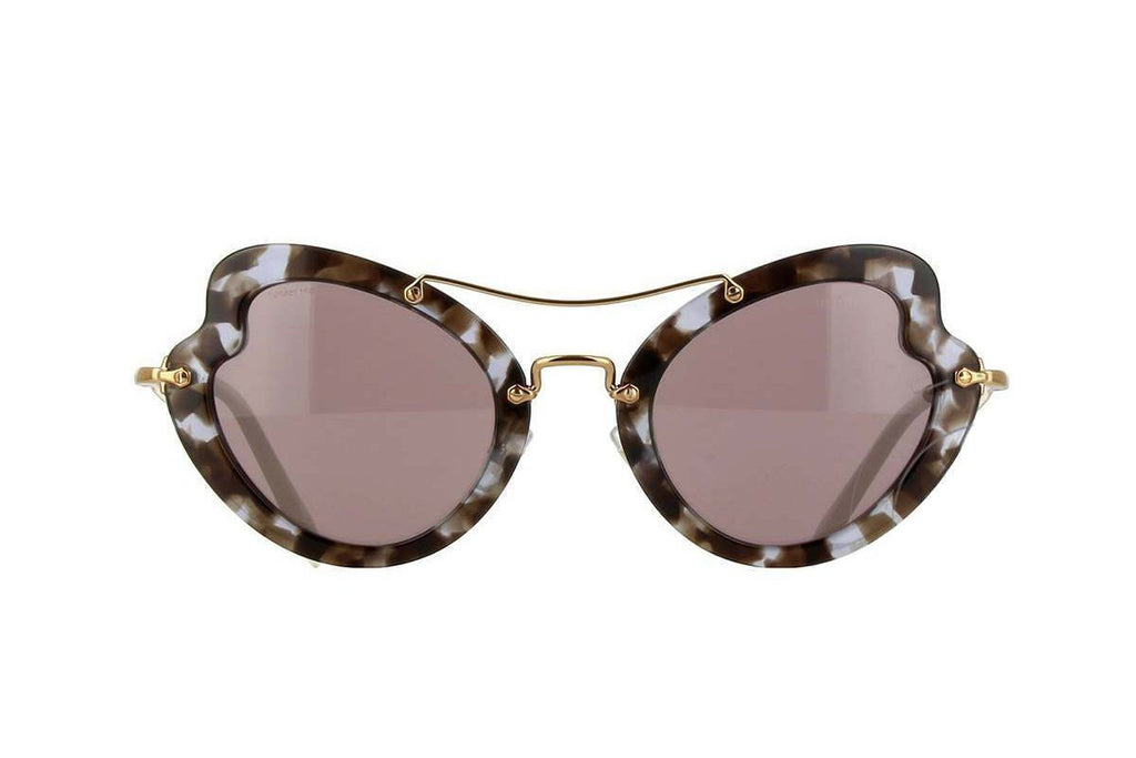 Miu Miu Prada Women's Classic White Havana Luxury Sunglasses SMU11R at_Queen_Bee_of_Beverly_Hills