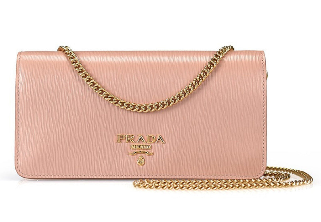 Prada Beige Cipria Mini Bandoliera Leather Wallet Crossbody Handbag 1DH044 at_Queen_Bee_of_Beverly_Hills