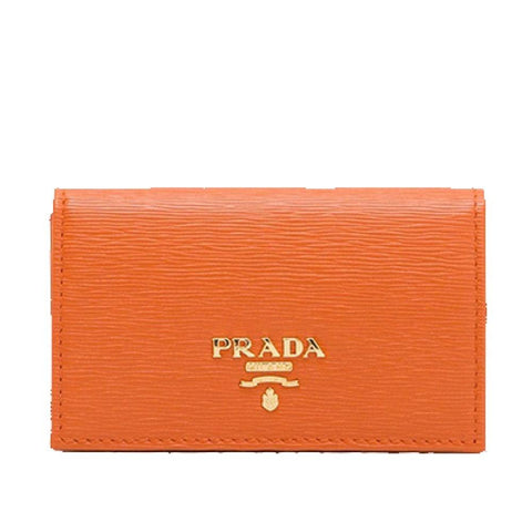 Prada Beige Vitello Move Leather Credit Card Holder Small Wallet 1MC122 at_Queen_Bee_of_Beverly_Hills