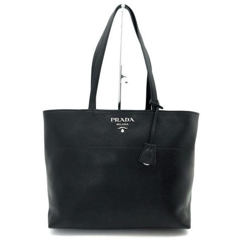 Prada Black Vitello Phenix Leather Large Shopping Tote Bag 1BG203 at_Queen_Bee_of_Beverly_Hills