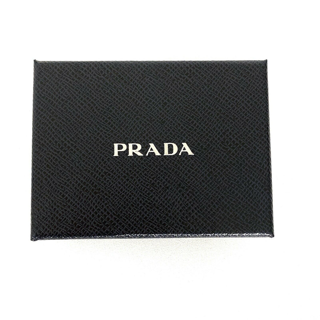 Prada Brass Handcuff Black Saffiano Leather Key Ring 1PP065 at_Queen_Bee_of_Beverly_Hills