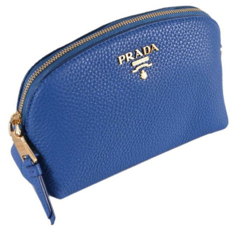 Prada Contenitore Azzurro Blue Vitello Daino Vanity Cosmetic Case 1ND005 at_Queen_Bee_of_Beverly_Hills