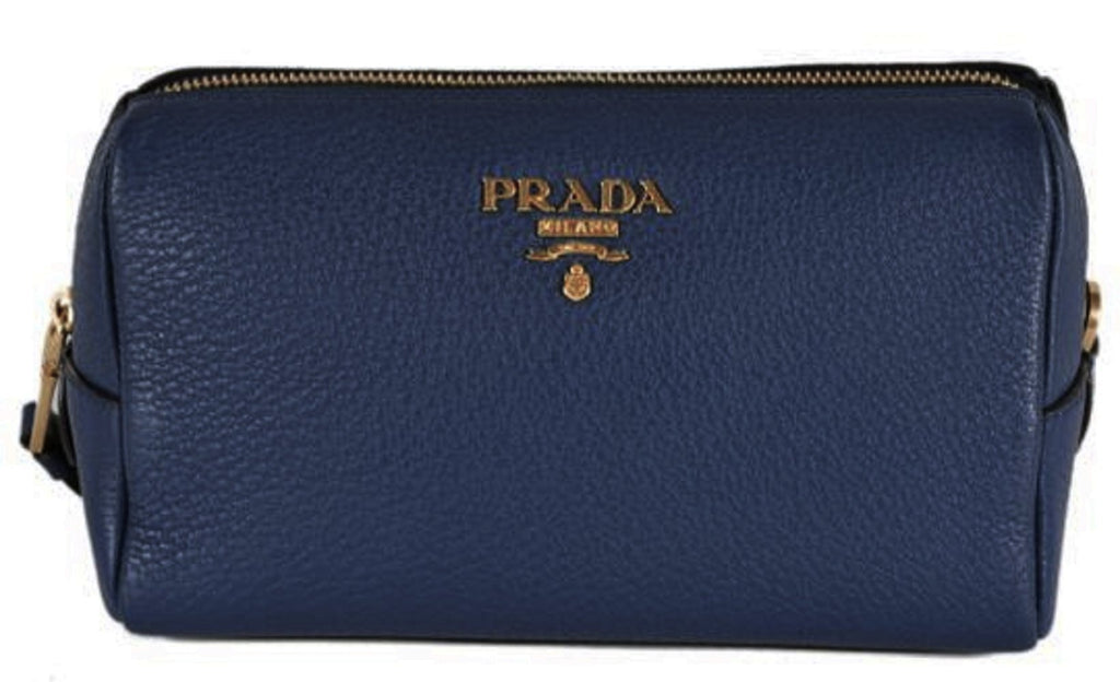 Prada Contenitore Baltico Navy Blue Vitello Daino Vanity Case 1ND004 at_Queen_Bee_of_Beverly_Hills