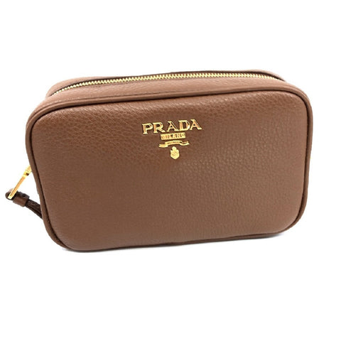 Prada Contenitore Nicciolo Brown Vitello Daino Leather Vanity Case 1ND007 at_Queen_Bee_of_Beverly_Hills