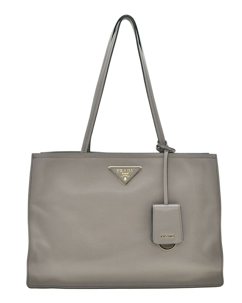 Prada Glace Calf Argilla Grey Shopping Tote 1BG281 at_Queen_Bee_of_Beverly_Hills