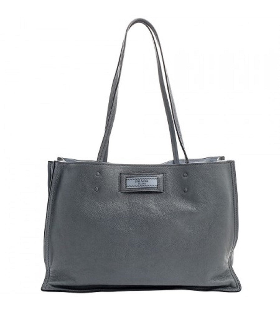Prada Glace Calf Etiquette Pomice Grey Shopping Tote 1BG122 at_Queen_Bee_of_Beverly_Hills