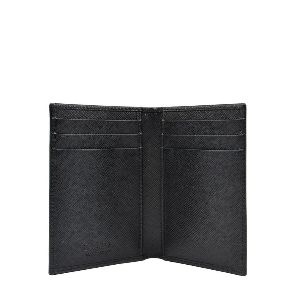 Prada Men's Saffiano Leather Vertical Card Black Holder 2MC101 at_Queen_Bee_of_Beverly_Hills