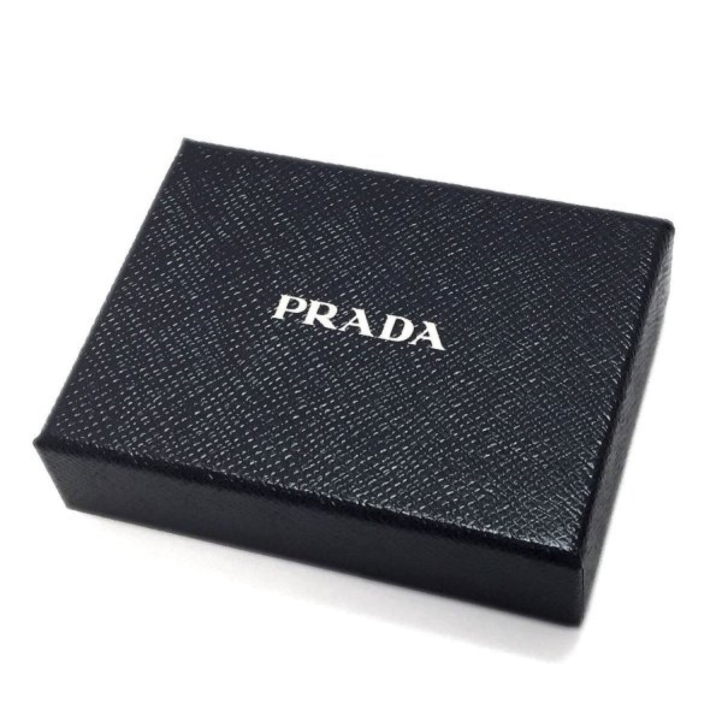 Prada Mens Vitello Micro Grain Flap Card Holder Wallet Baltico Blue 2MC122 at_Queen_Bee_of_Beverly_Hills