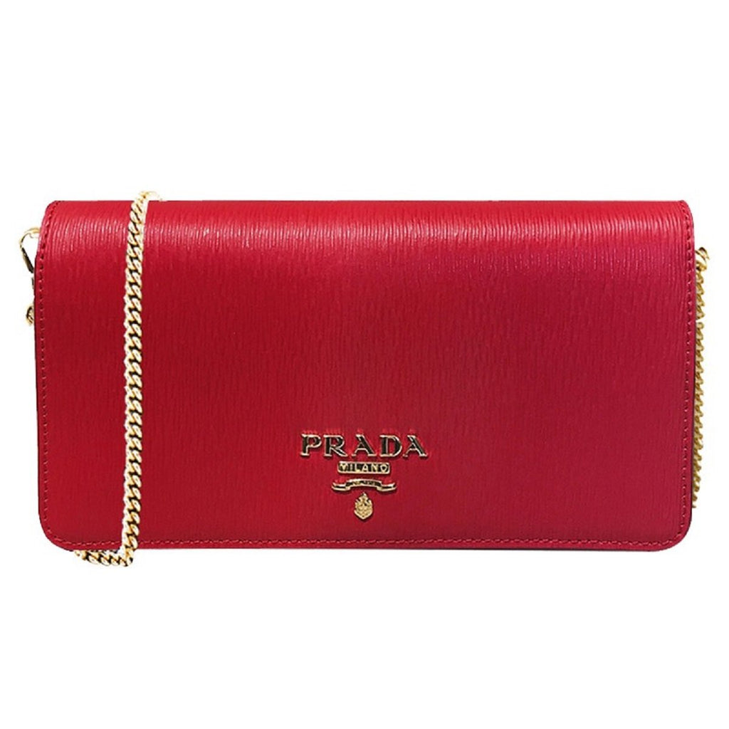 Prada Miniborse Lacca Red Vitello Move Leather Crossbody Chain 1BP021 at_Queen_Bee_of_Beverly_Hills