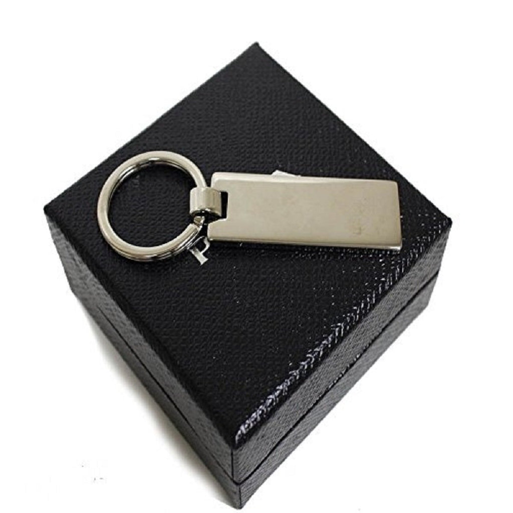 Prada Navy Blue Silver Metal Enamel Men's Key Chain 2PS021 at_Queen_Bee_of_Beverly_Hills