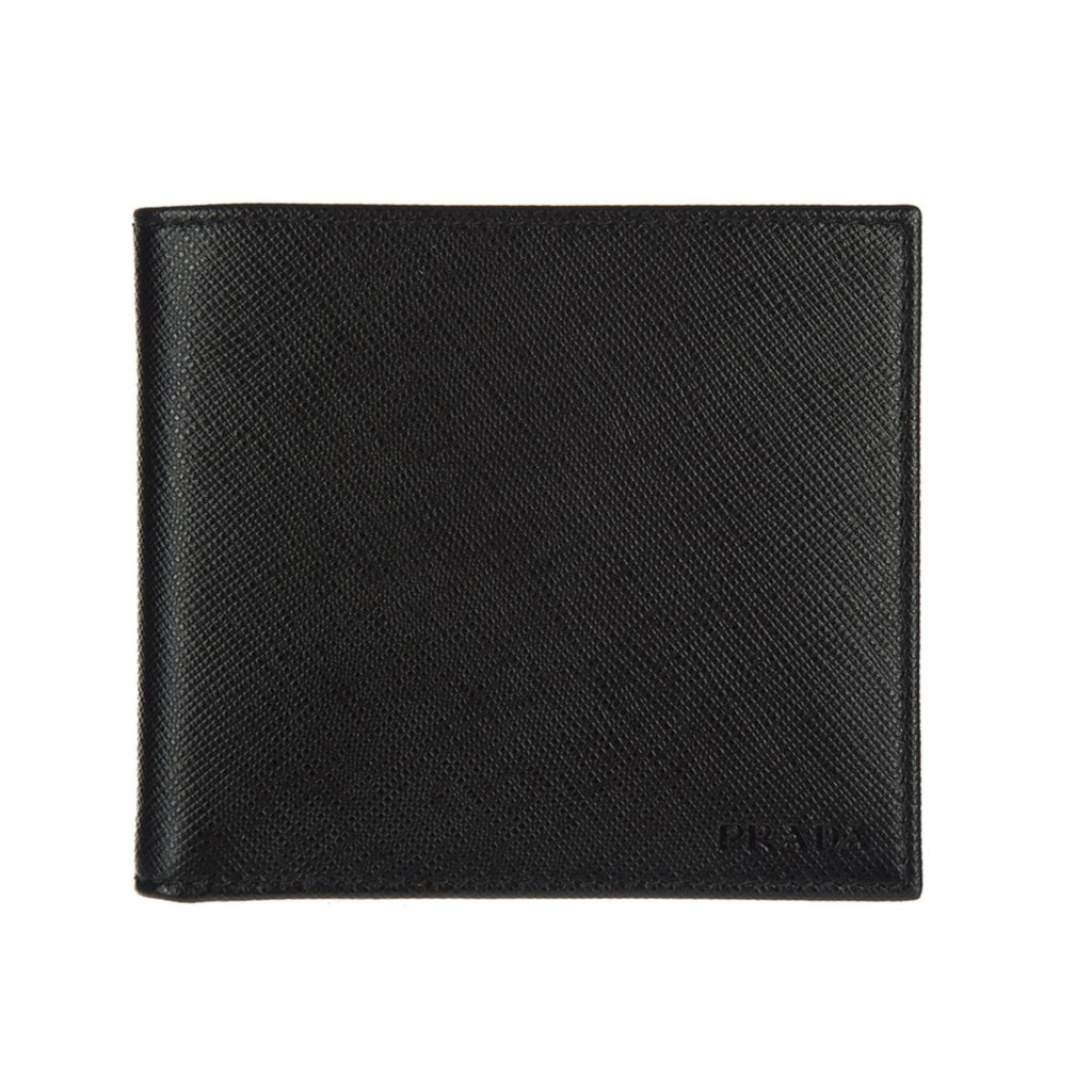 Prada Nero Black Saffiano Cuir Leather Billfold Bi-fold Credit Card Wallet 2MO513 at_Queen_Bee_of_Beverly_Hills