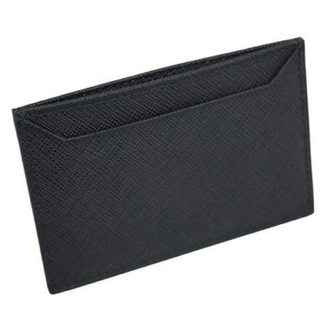 Prada Nero Black Saffiano Men's Leather Wallet Credit Card Holder Case Bill 2MC208 at_Queen_Bee_of_Beverly_Hills