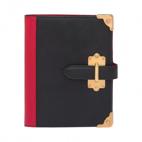 Prada Nero Fuoco Saffiano Cahier Journal 1AZ002 at_Queen_Bee_of_Beverly_Hills