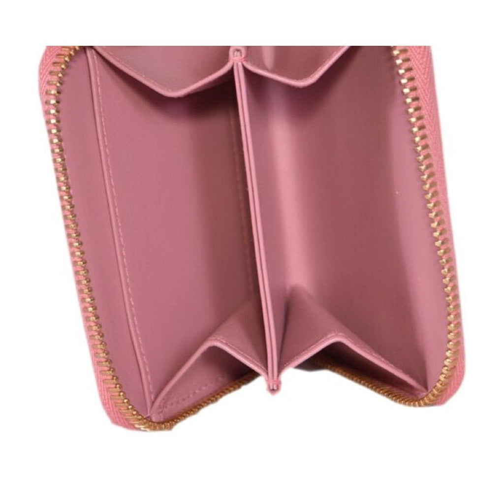 Prada Petalo Pink Saffiano Leather Gold Zip Coin Purse Wallet 1MM268 at_Queen_Bee_of_Beverly_Hills