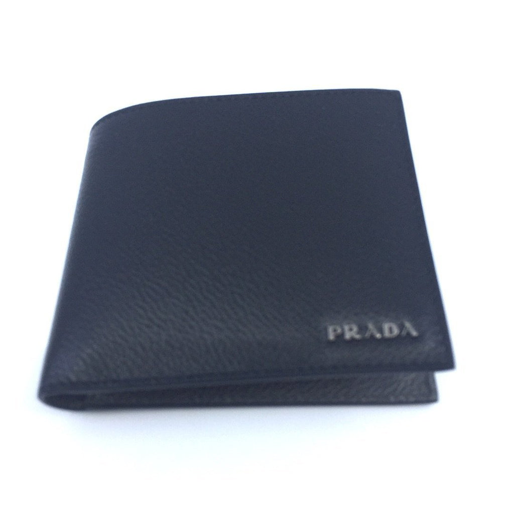 Prada Portaf. Orizzontale Nero Black Gray Mercurio Vitello Micro Grain Leather 2MO513 at_Queen_Bee_of_Beverly_Hills
