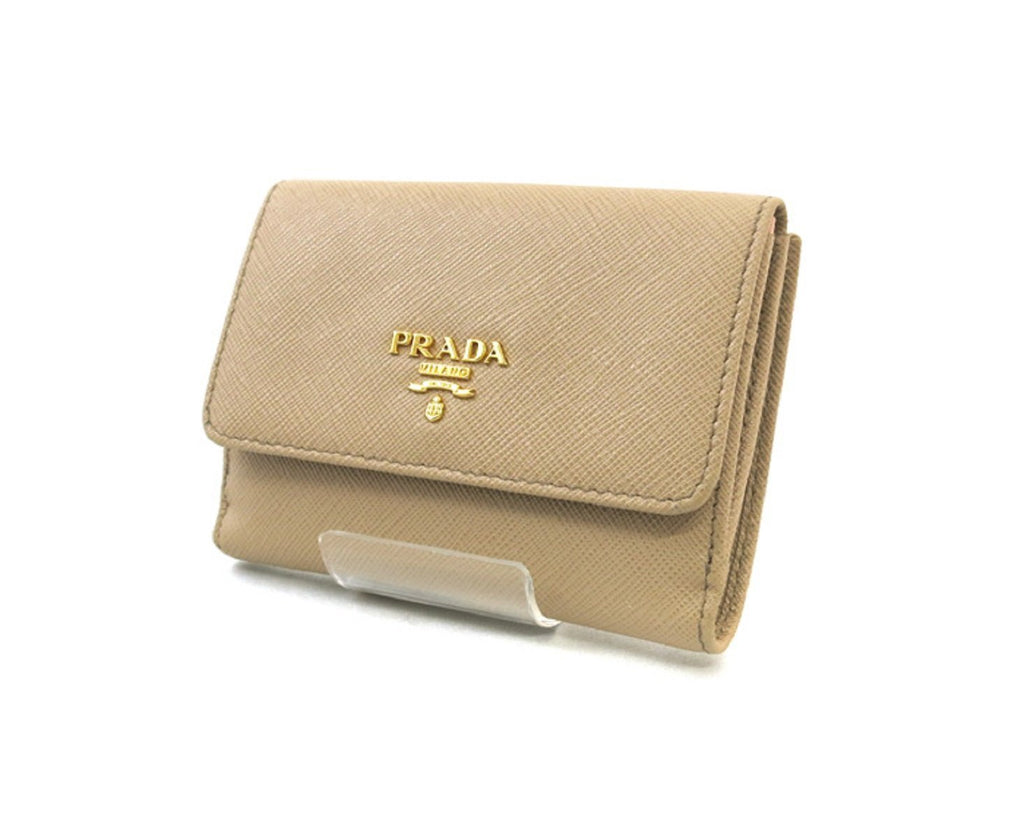 Prada Portafoglio Pattina Cammeo and Orchidea Saffiano Leather Wallet 1MH523 at_Queen_Bee_of_Beverly_Hills
