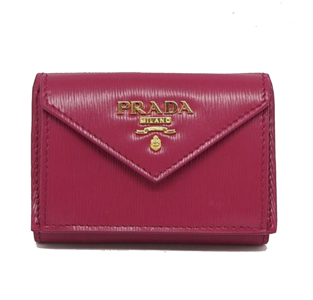 Prada Portafoglio Pattina Pink Ibisco Vitello Move Leather Wallet 1MH021 at_Queen_Bee_of_Beverly_Hills