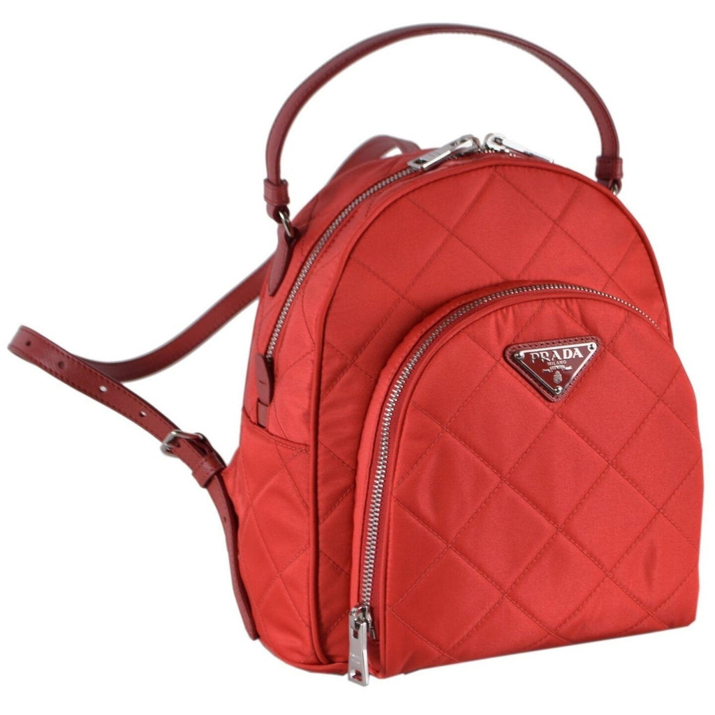 Prada Quilted Tessuto Nylon Rosso Red Zaino Backpack 1BZ066 at_Queen_Bee_of_Beverly_Hills