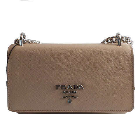Prada Rose Beige Saffiano Leather Designer Crossbody Handbag for Women 1BD144 at_Queen_Bee_of_Beverly_Hills