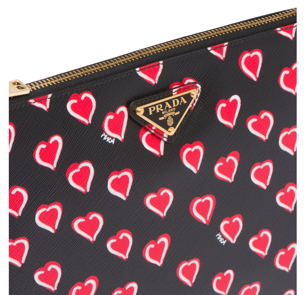 Prada Saffiano Cuori Nero Heart Document Holder 1NG016 at_Queen_Bee_of_Beverly_Hills