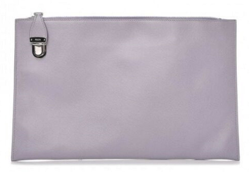 Prada Saffiano Lux Leather Purple Violet Zipper Clutch Pouch Wristlet Bag BP868T at_Queen_Bee_of_Beverly_Hills