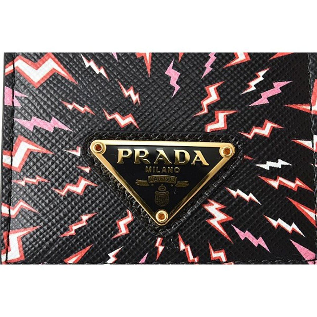 Prada Saffiano Thunder Lacca Black Card Case Badge Holder 1MC007 at_Queen_Bee_of_Beverly_Hills