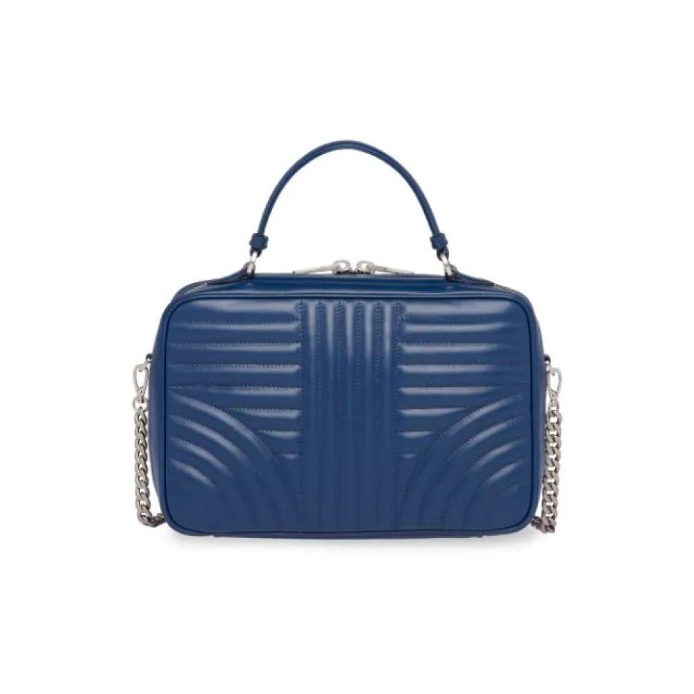 Prada Soft Calf Impunture Bluette Bandoliera Quilted Leather Handbag 1BH119 at_Queen_Bee_of_Beverly_Hills