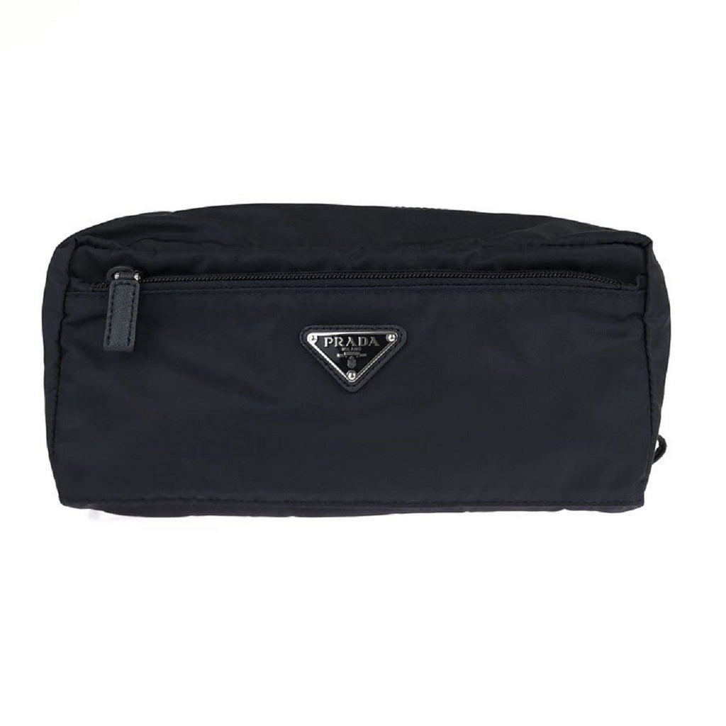 Prada Tessuto Nylon Men's Necessaire Toiletry Travel Bag Nave Blue 2NA029 at_Queen_Bee_of_Beverly_Hills