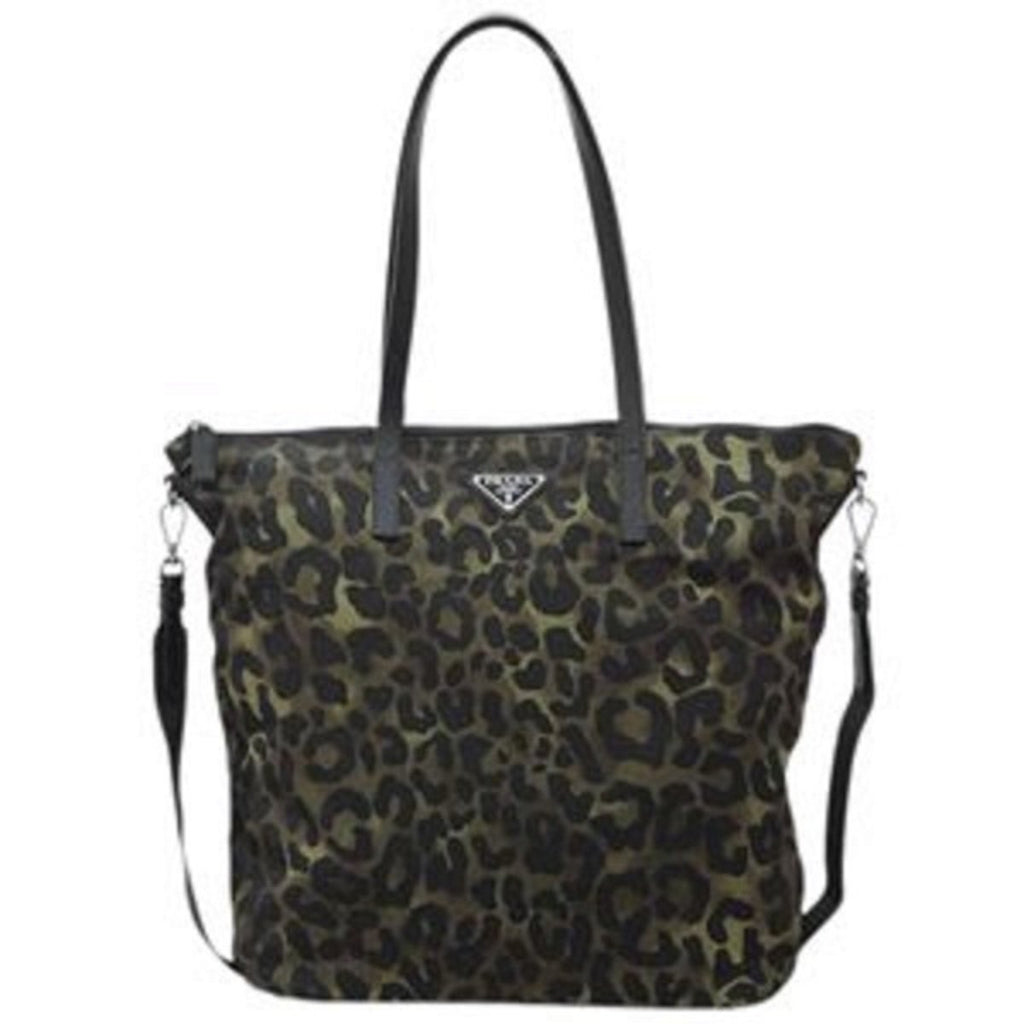 Prada Tessuto Stampat Nylon Shopping Bag in Green Militare Leopard 1BG189 at_Queen_Bee_of_Beverly_Hills