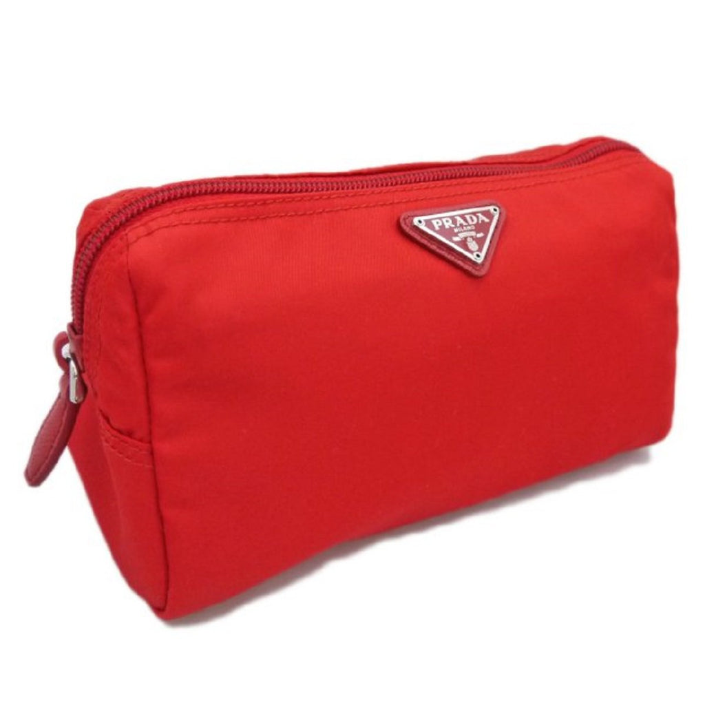 Prada Triangle Logo Medium Zip Around Toiletry Case Red 1NA693 at_Queen_Bee_of_Beverly_Hills