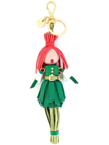 Prada Trick in Pelle Alice Doll Red Hair Mango Green Leather Key Chain 1TL172 at_Queen_Bee_of_Beverly_Hills