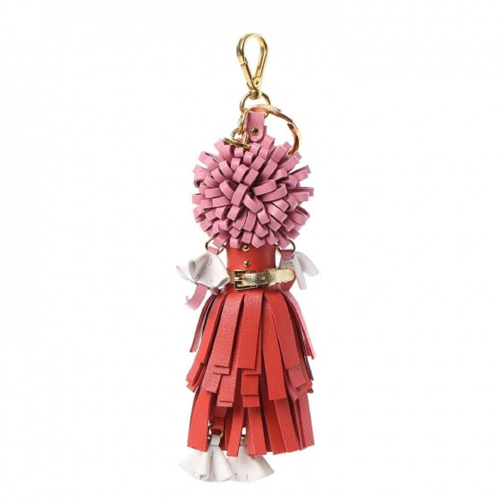 Prada Trick Pelle Lacca Wendy Red Pink Leather Keychain 1TL170 at_Queen_Bee_of_Beverly_Hills