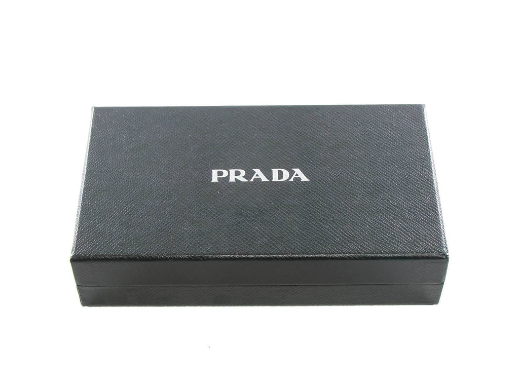 Prada Trick Pelle Saffiano Black PRADA Key Chain Charm 2TL253 at_Queen_Bee_of_Beverly_Hills