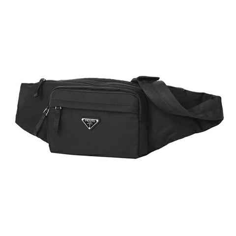 Prada Unisex Marsupio Belt Bag Black Fanny Pack Waist Bag Travel Nylon Tessuto 2VL005 at_Queen_Bee_of_Beverly_Hills