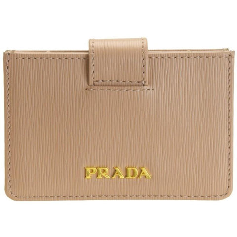Prada Vitello Move Cipria beige Accordian Card Case 1MC211 at_Queen_Bee_of_Beverly_Hills