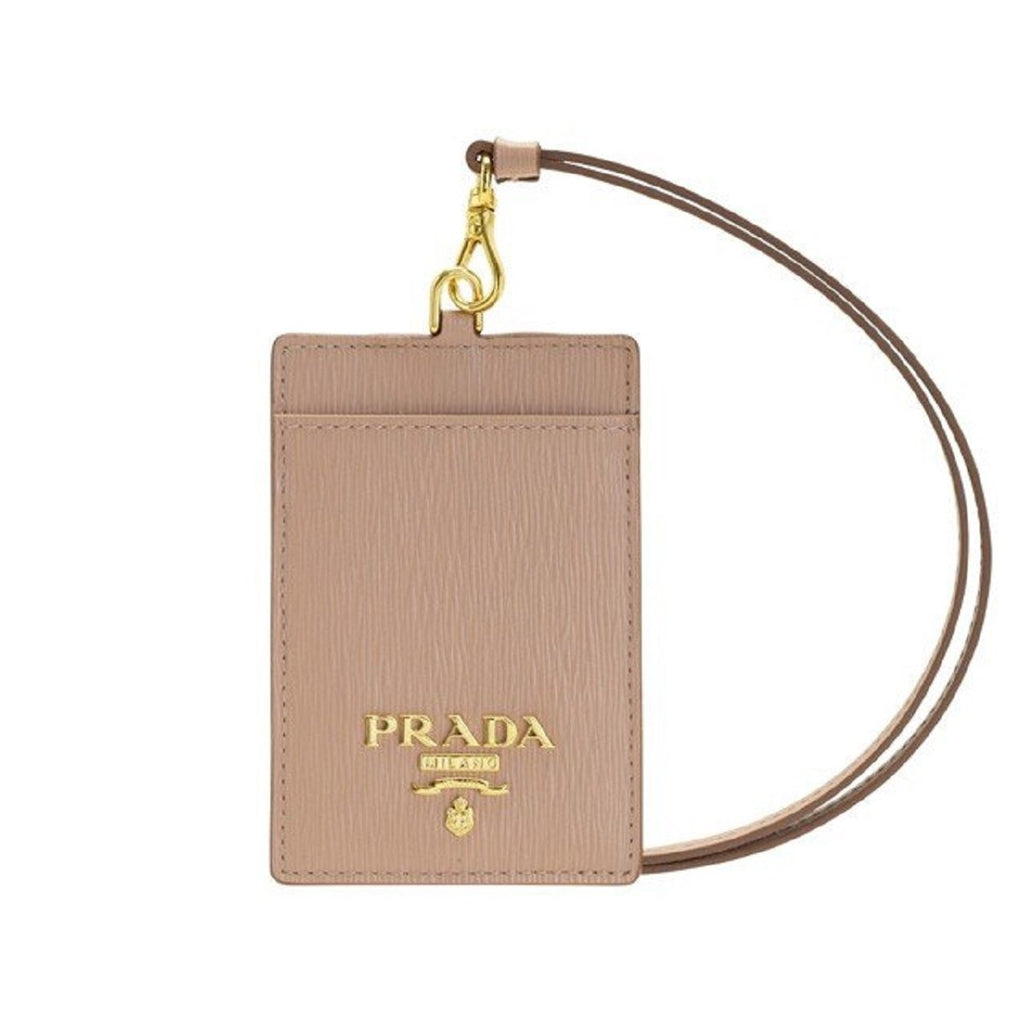 Prada Vitello Move Cipria Beige Card Case Badge Holder 1MC007 at_Queen_Bee_of_Beverly_Hills