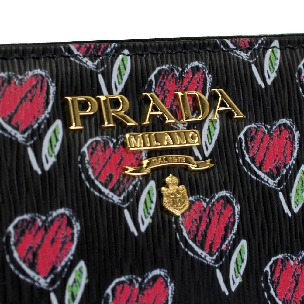 Prada Vitello Move Love Continental Wallet Leather Gold Hardware 1ML506 at_Queen_Bee_of_Beverly_Hills