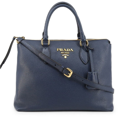 Prada Vitello Phenix Baltico Blue Leather Crossbody Handbag 1BA063 at_Queen_Bee_of_Beverly_Hills