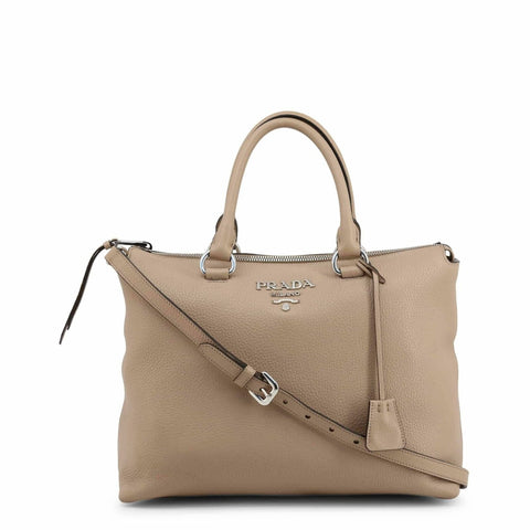 Prada Vitello Phenix Beige Cammeo Leather Handbag 1BA063 at_Queen_Bee_of_Beverly_Hills