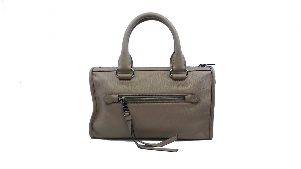 Prada Vitello Phenix Beige Tan Cammeo Bauletto Leather Tote Satchel Handbag at_Queen_Bee_of_Beverly_Hills